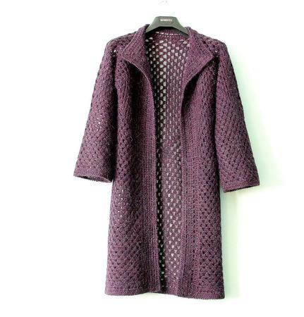 """Шазюбль - легкое пальто """"Аметист"""" ручной работы на заказ"""