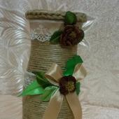 Джутовая мини-ваза