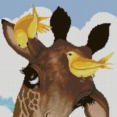 Схема вышивки Жирафик и птички