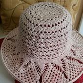 Летняя шляпка крючком  (пример)