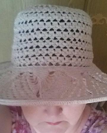 Летняя шляпка крючком  (пример) ручной работы на заказ