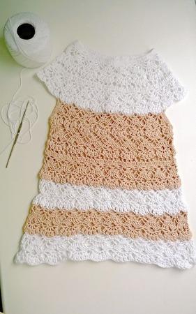 Летнее вязаное платье ручной работы на заказ