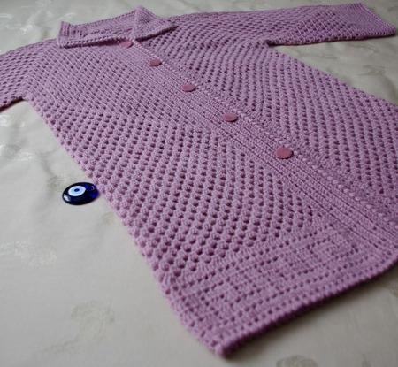 """Шазюбль - легкое пальто """"Розовый туман"""" ручной работы на заказ"""