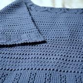 Пуловер ручной работы Джинс. Авторская модель