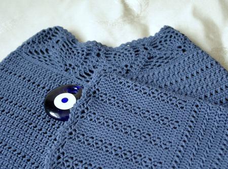 Пуловер ручной работы Джинс. Авторская модель ручной работы на заказ