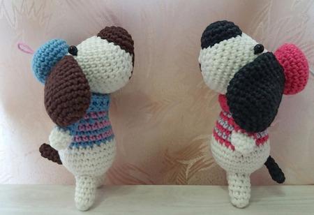 Вязаная собачка - художник ручной работы на заказ