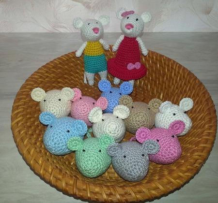 Мышки вязаные ручной работы на заказ