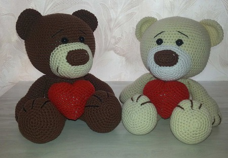 Влюблённые медвежата ручной работы на заказ