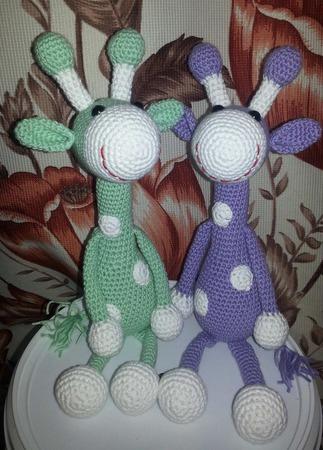 Весёлые жирафы ручной работы на заказ