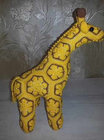 Жираф вязаный ручной работы на заказ