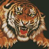 Схема вышивки Ярость тигра