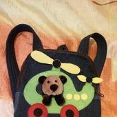 Джинсовый рюкзак детский