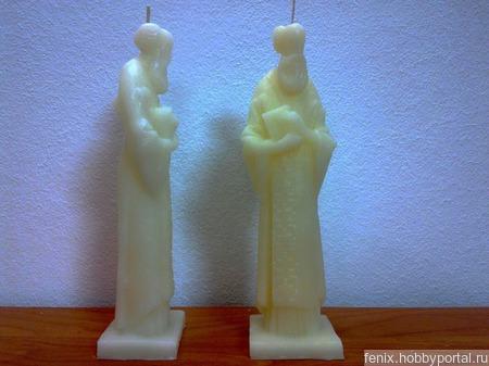Николай Чудотворец свеча статуэтка ручной работы на заказ