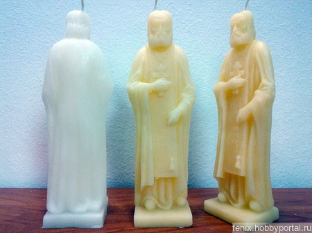 Серафим Саровский свеча статуэтка ручной работы на заказ