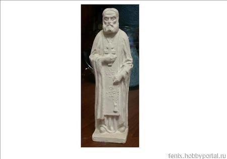Серафим Саровский скульптура ручной работы на заказ