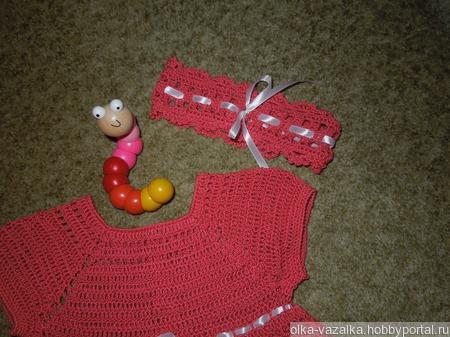 Платье для маленькой модницы ручной работы на заказ