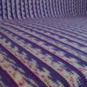 Плед-покрывало жаккард в фиолетово-белых тонах