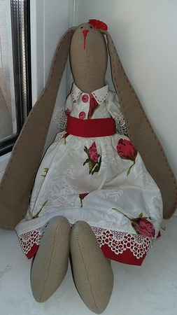 Кукла Тильда Зайка ручной работы на заказ