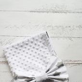Одеяло-плед с бантом на выписку