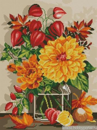Схема вышивки Осенний натюрморт ручной работы на заказ