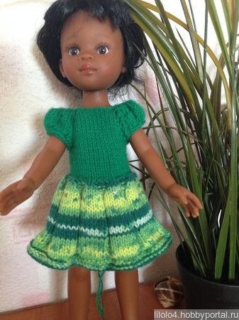 Платье на куклу Паола рейн ручной работы на заказ