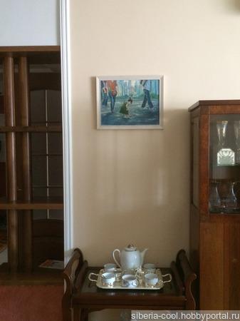 Картина Мороженое, холст на картоне, масло ручной работы на заказ