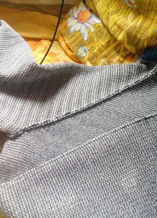 Свитер хорошее настроение (джинсовый) ручной работы на заказ