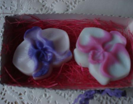 Набор мыла ручной работы в подарочной упаковке Орхидеи ручной работы на заказ