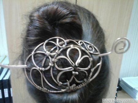 Заколка для длинных волос ручной работы на заказ