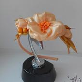 "Ободок ""Розовый цветок"""