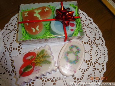 Подарочное мыло ручной работы  8 Марта овальное ручной работы на заказ