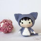 """Крючковый Мастер-класс """"Маленькая куколка Кошечка из серии Tanoshi"""""""