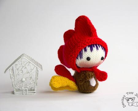 """Мастер класс """"Маленькая куколка Петушок из серии Tanoshi"""" ручной работы на заказ"""