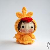 """Мастер-класс """"Маленькая куколка Цыпленок из серии Tanoshi"""""""
