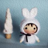 """Крючковый Мастер-класс """"Маленькая куколка Зайка из серии Tanoshi"""""""