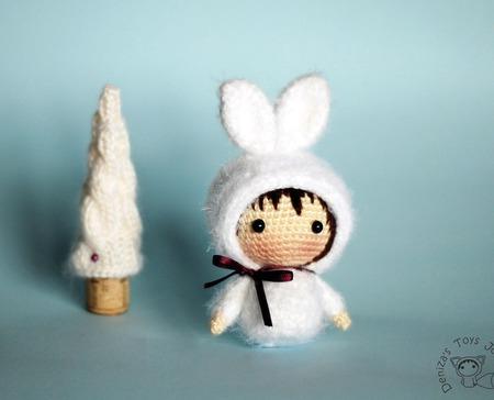 """Крючковый Мастер-класс """"Маленькая куколка Зайка из серии Tanoshi"""" ручной работы на заказ"""