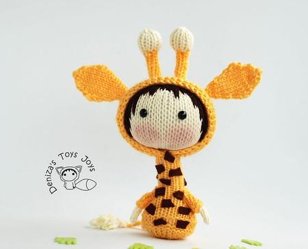 """Мастер-класс """"Маленькая куколка Жираф из серии Tanoshi"""" ручной работы на заказ"""