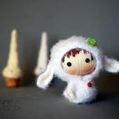 "Мастер-класс ""Маленькая куколка Белая Овечка из серии Tanoshi"""