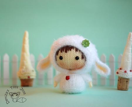 """Мастер-класс """"Маленькая куколка Белая Овечка из серии Tanoshi"""" ручной работы на заказ"""