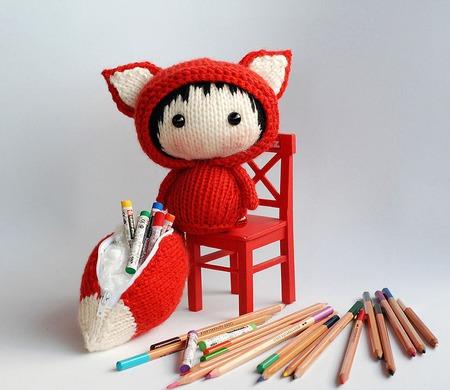 """Мастер-класс """"Куколка Лисичка со съемным хвостом-пеналом Tanoshi."""" ручной работы на заказ"""