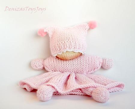 """Мастер-класс """" Розовая Вязаная Вальдорфская кукла бабочка"""" ручной работы на заказ"""