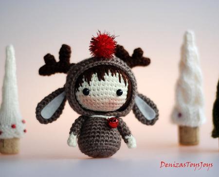 """Крючковый Мастер-класс """"Маленькая куколка Оленёнок из серии Tanoshi"""" ручной работы на заказ"""
