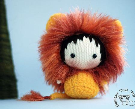 """Мастер-класс """"Маленькая куколка  Желтый Львенок  из серии Tanoshi.' ручной работы на заказ"""