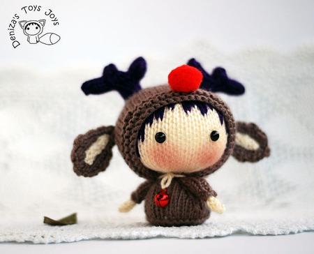 """Мастер-класс """"Маленькая куколка Северный Оленёнок из серии Tanoshi"""" ручной работы на заказ"""