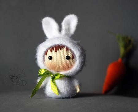 """Мастер-класс """"Маленькая куколка Белая Зайка из серии Tanoshi"""" ручной работы на заказ"""