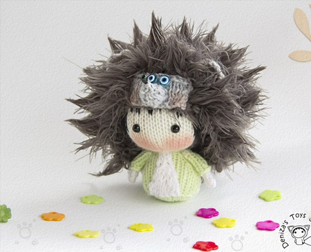 """Мастер-класс """"Маленькая куколка Ежик из серии Tanoshi"""" ручной работы на заказ"""