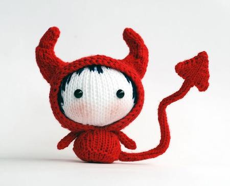 """Мастер-класс """"Маленькая куколка Дьяволенок из серии Tanoshi"""" ручной работы на заказ"""