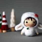 """Крючковый Мастер-класс """"Маленькая куколка Овечка из серии Tanoshi"""""""