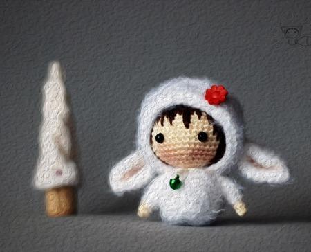 """Крючковый Мастер-класс """"Маленькая куколка Овечка из серии Tanoshi"""" ручной работы на заказ"""