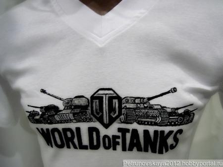 """Футболка """"World of tanks"""" ручной работы на заказ"""